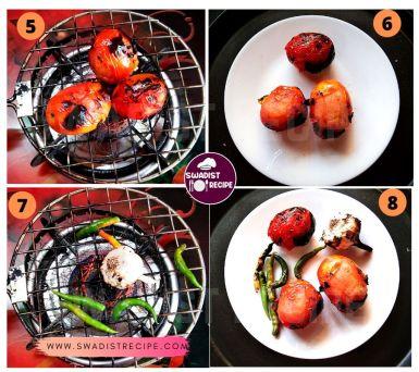 Bhune tamatar lahsun ki chutney Recipe Step 2