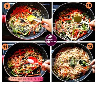 Veg Hakka noodle Recipe Step 3
