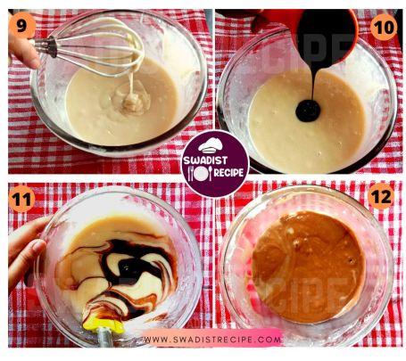 Eggless Marble Cake Recipe Step 3