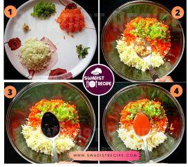 Veg manchurian Recipe Step 1