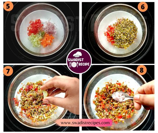 Moong Sprout Recipe Step 2