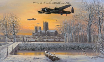 Avro Lancaster We Salute You Christmas Card