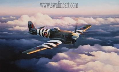 A Break in the Storm - Hawker Typhoon