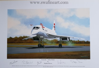 Concorde Safely Home Set of 4 small A Proof Edition (Stephen Brown Aviation Artist)