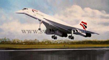 Concorde - The Final Touch Down Birthday card