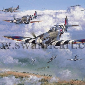 Spitfire Over The Beaches Birthday card
