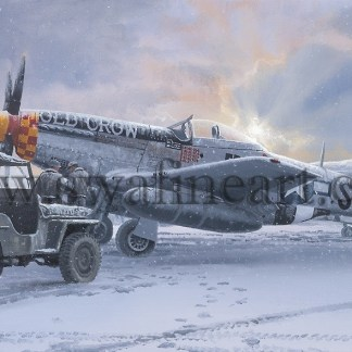 P-51 Mustang Winter of 45 Christmas Card