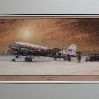 Last Flight Before Christmas - BEA DC-3 By Stephen Brown