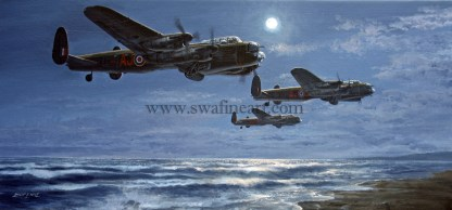 Avro Lancaster Inbound to the Ruhr Dams Aviation cards