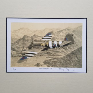 Bristol Beaufighter TF . Mk . X Pencil Drawing (Stephen Brown Aviation Artist)