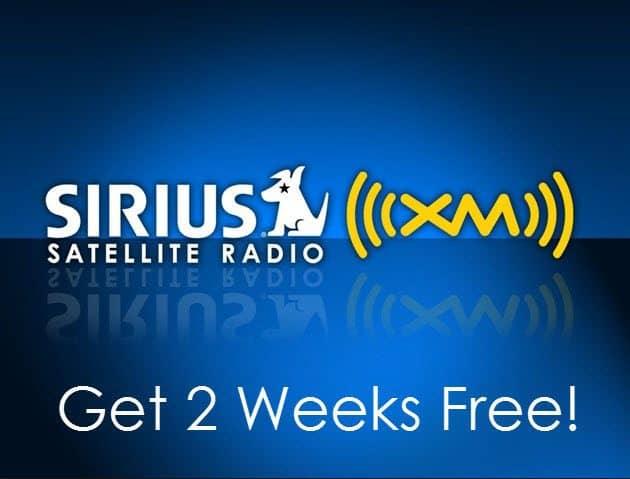 siriusxm 2 weeks free