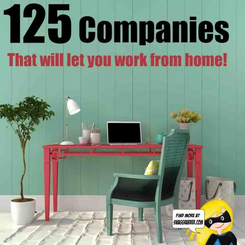 companies that will let you work from home