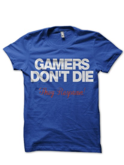gamers blue tee