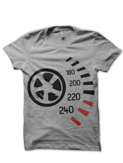 wheel grey tee
