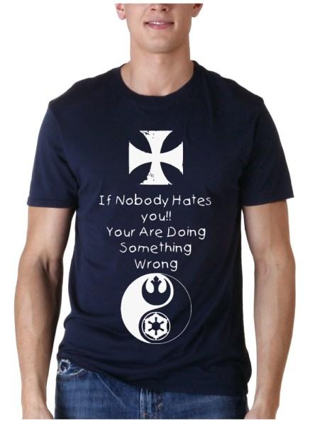 if nobody blue t-shirt