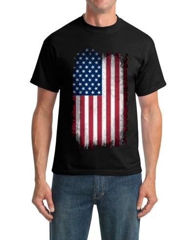 usa swag t-shirt black