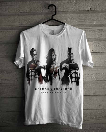 dawn of justice white tee