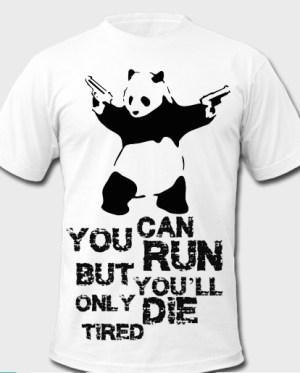 Panda with guns tshirt