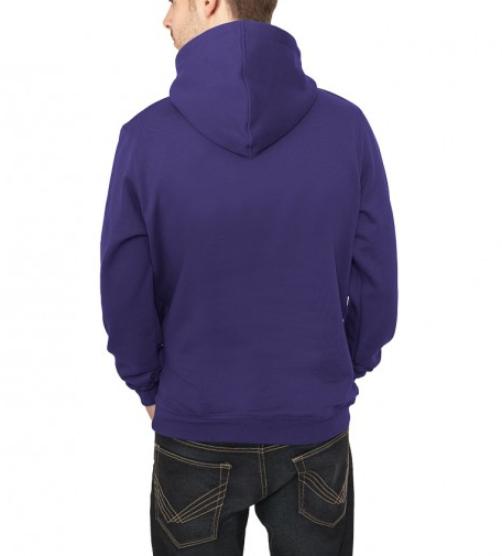 plain purple hoodie back