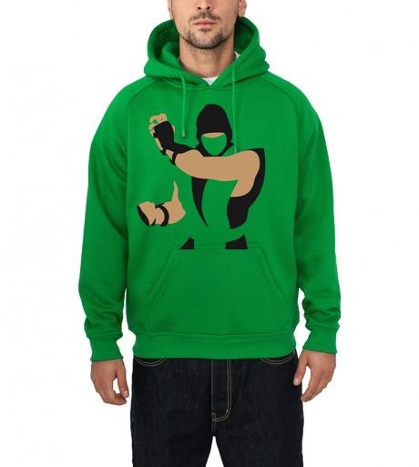mortal kombat green hoodie