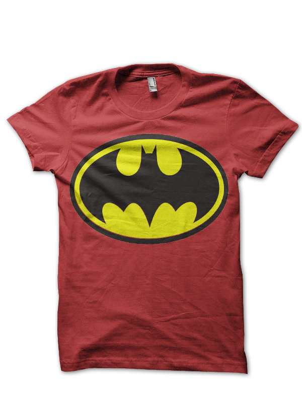 batman logo red tee
