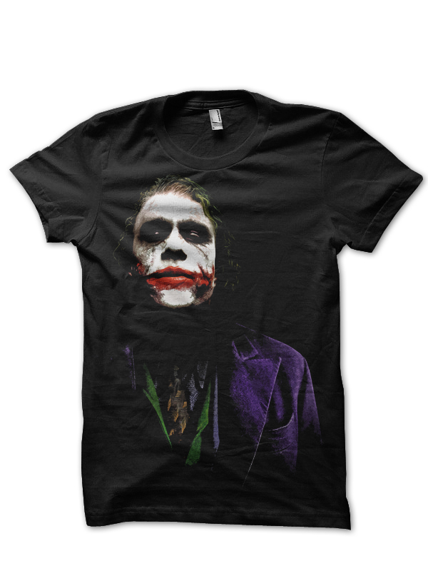 joker heath ledger tshirt