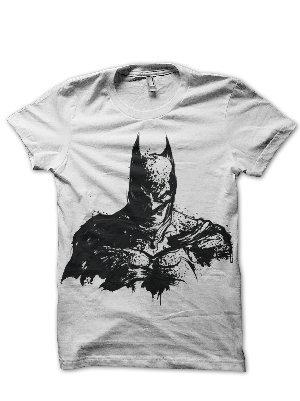 batman white tee