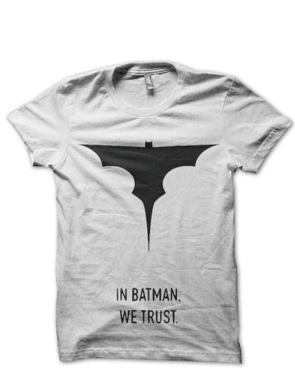 in batman white tee
