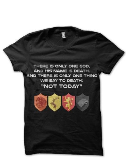 god of death black tee