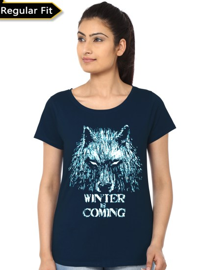 winter is coming navy blue top