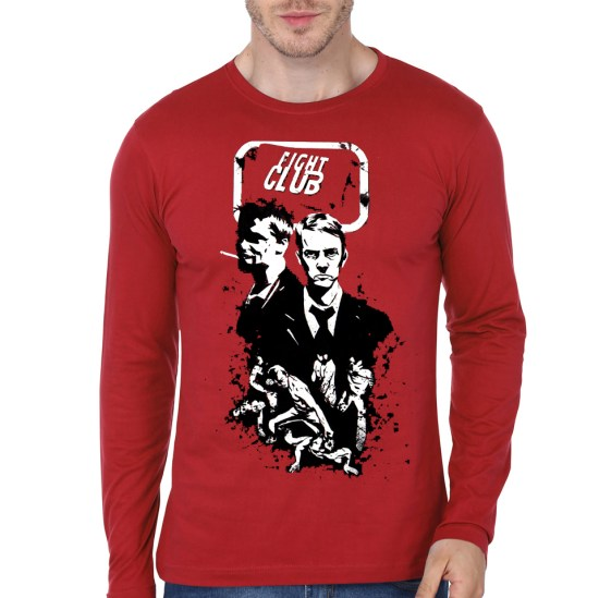 fight club red tee