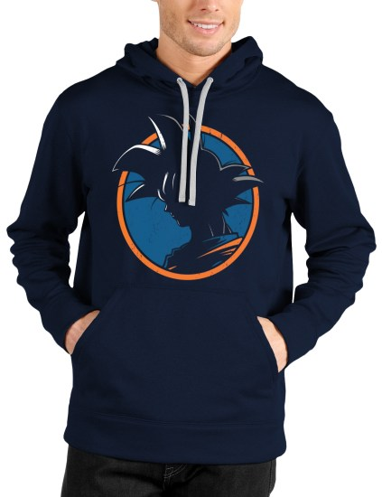 goku navy blue hooded sweatshirt