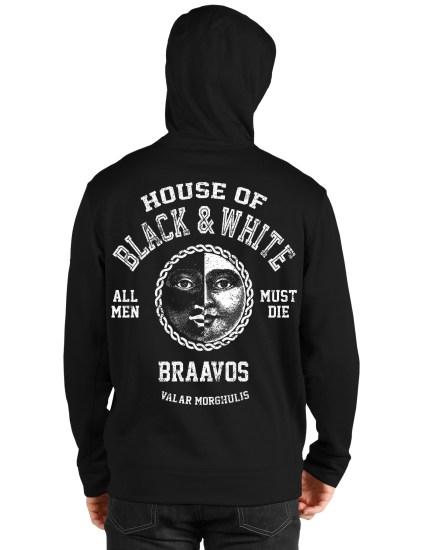 house bravos black hoodie back
