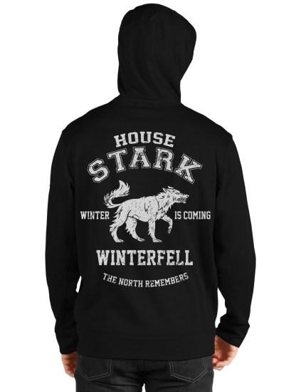 house stark black hoodie back