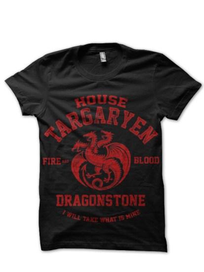house targaryen black tee 1