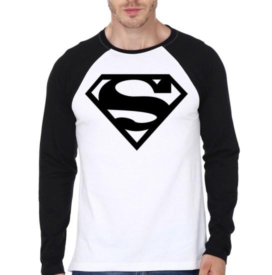 superman raglan model