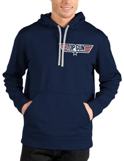 top gun navy blue hoodie