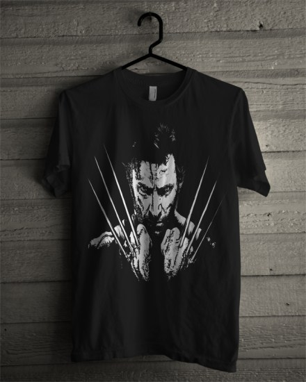 dark wolverine black tee