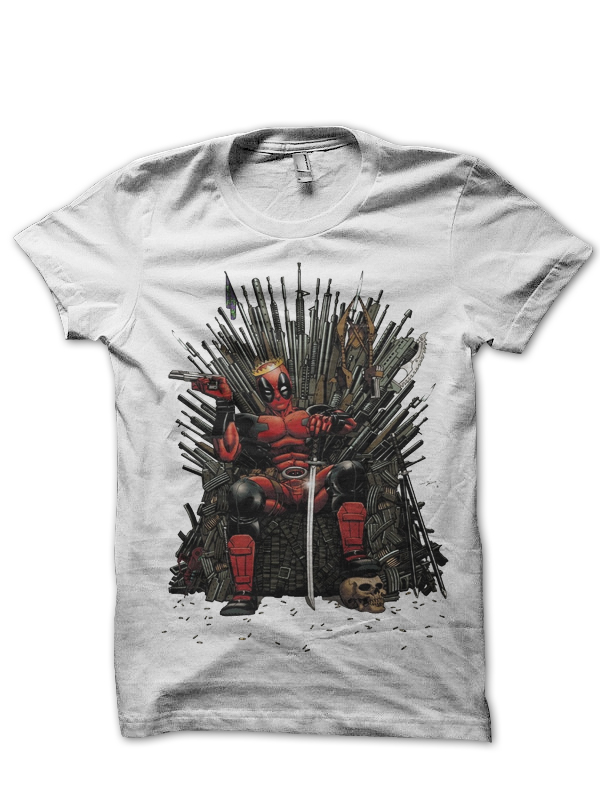 game of deadpool white tee
