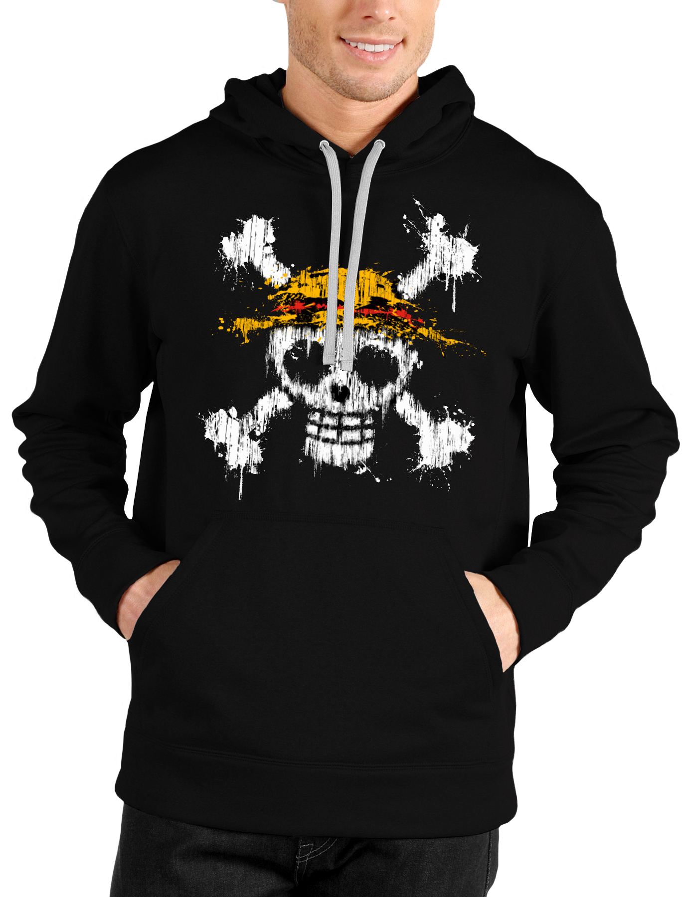 One Piece Black Hoodie - Swag Shirts