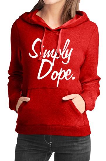 simply dop red girls hoodie