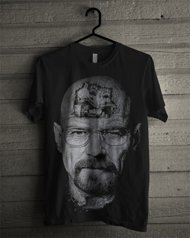 breaking walt black tee