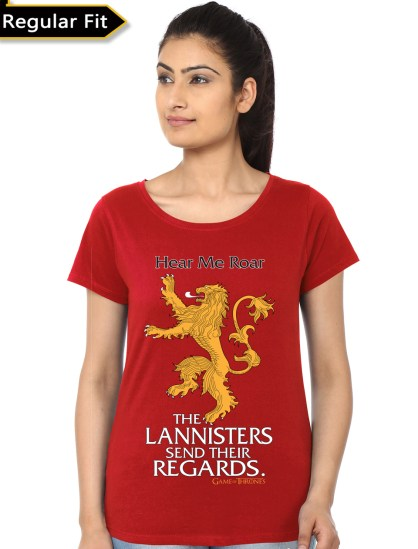 lannister red girls tee