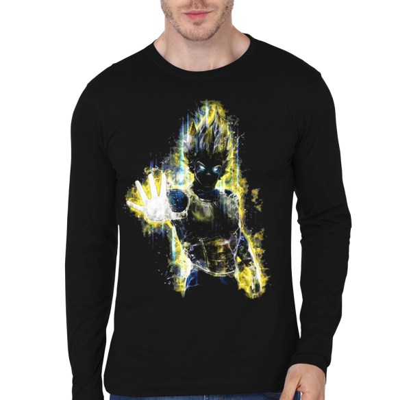 lighting vegeta black full sleeve tee