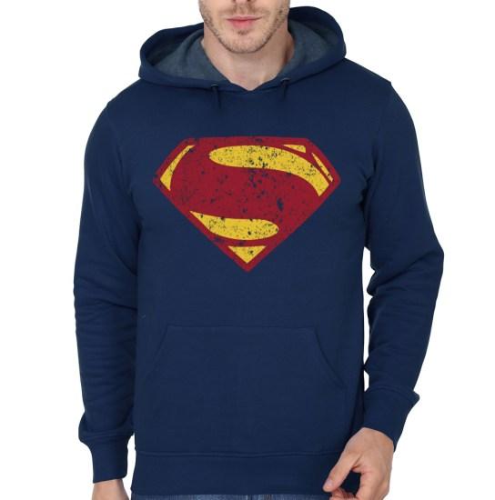 superman navy blue hoodie