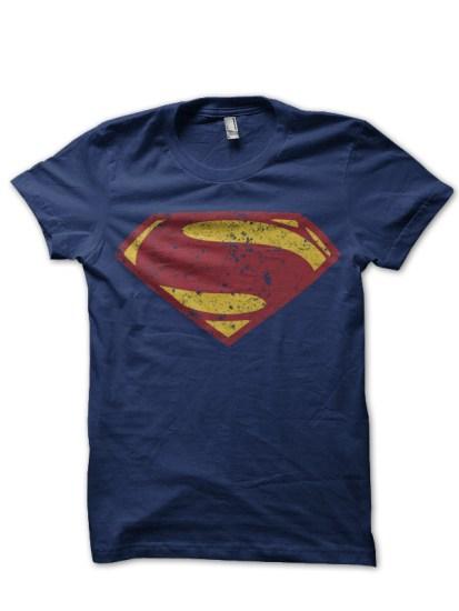 superman navy blue tee
