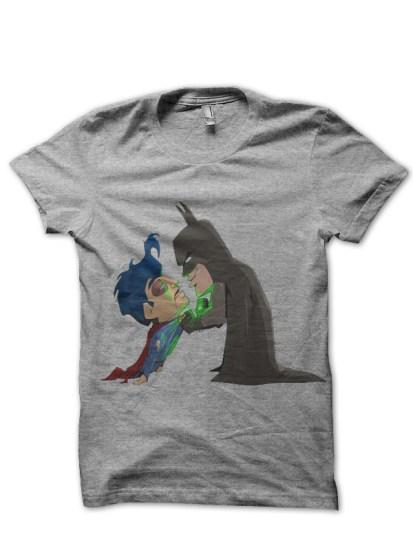 batman vs superman grey tee