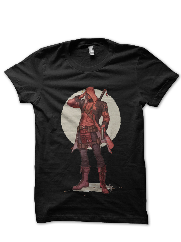 deadpool black tee
