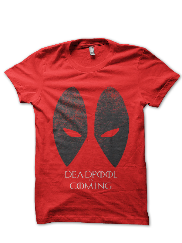 deadpool is coming red tee