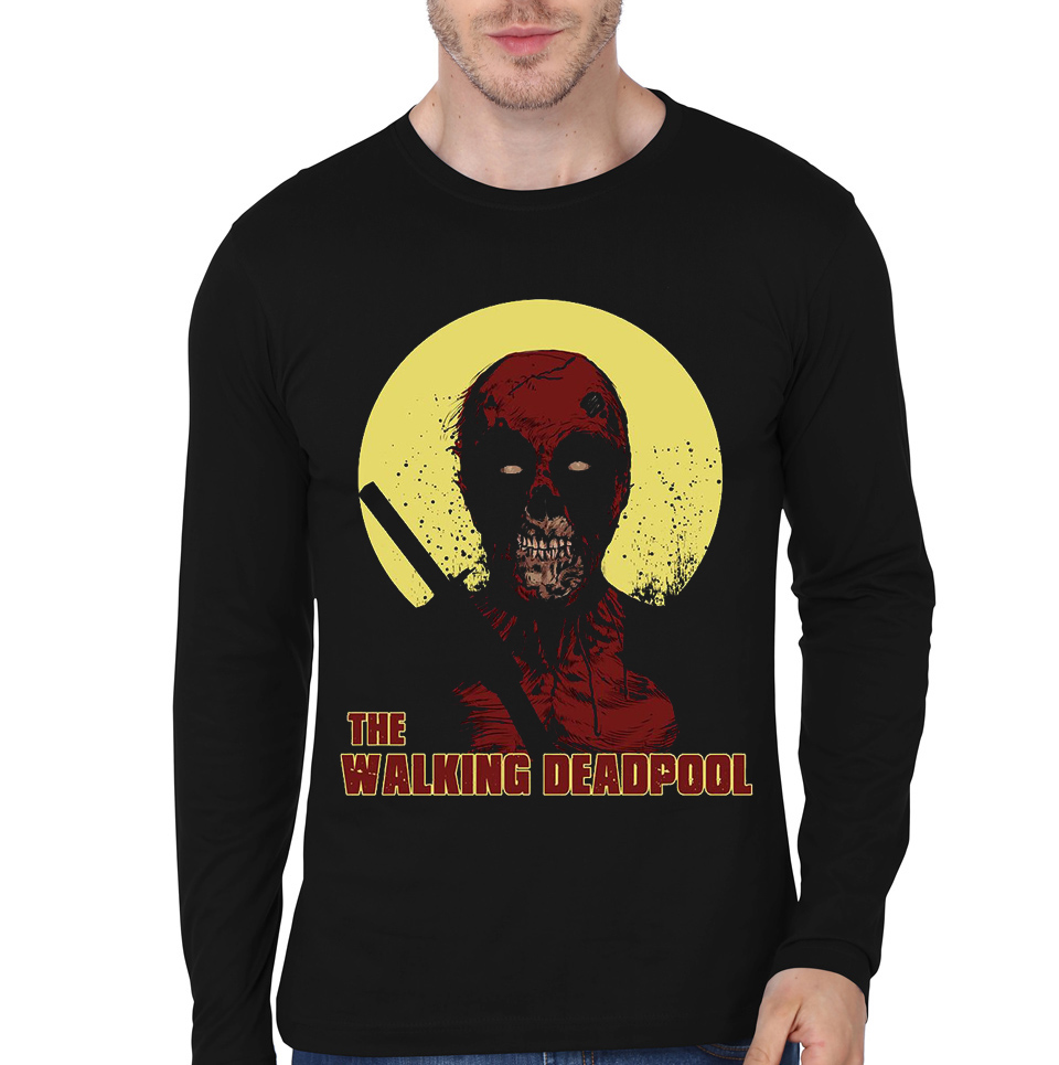 deadpool walker black tee